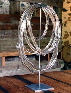 Equestrian themed sculpture glass lasso