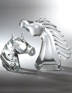 Blown Glass Thoroughbred Bust Sculpture Set