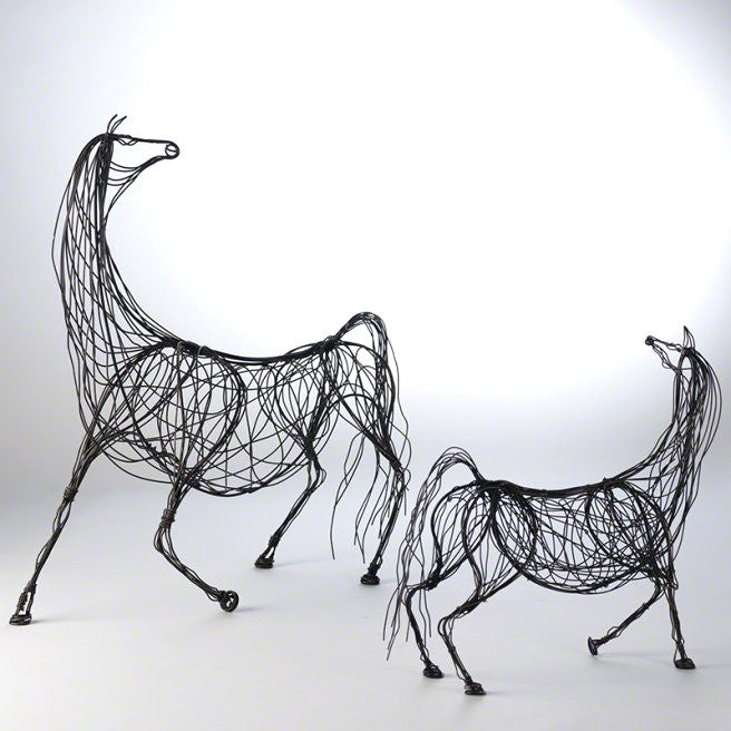 Wired Ming Dynasty Style Equine Duo