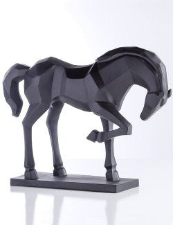 Cubist Bowing Stallion Sculpture