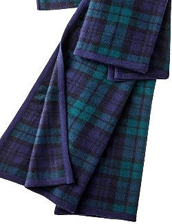 Italian Cashmere Tartan Plaid Carriage Blanket