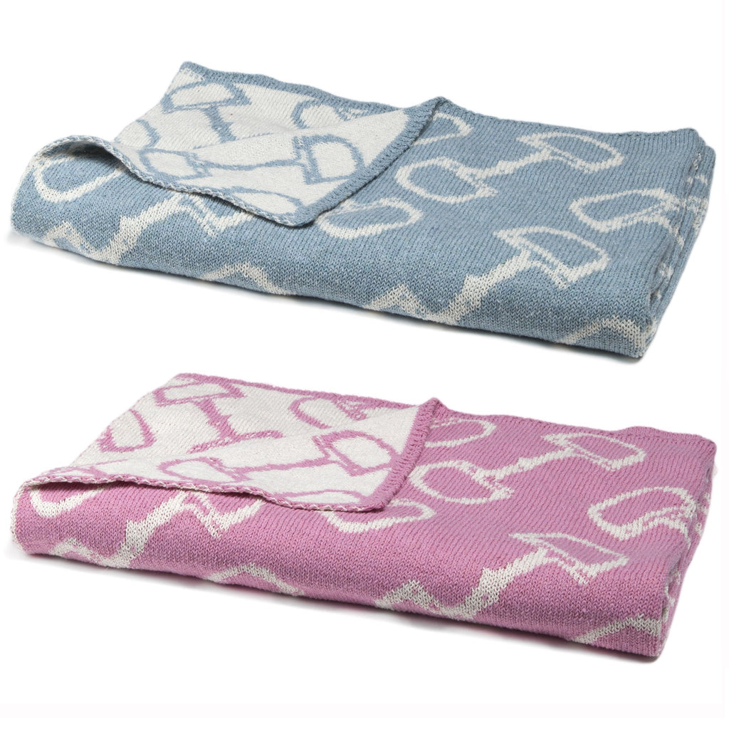 Eco Conscious Horse Bits Baby Throw