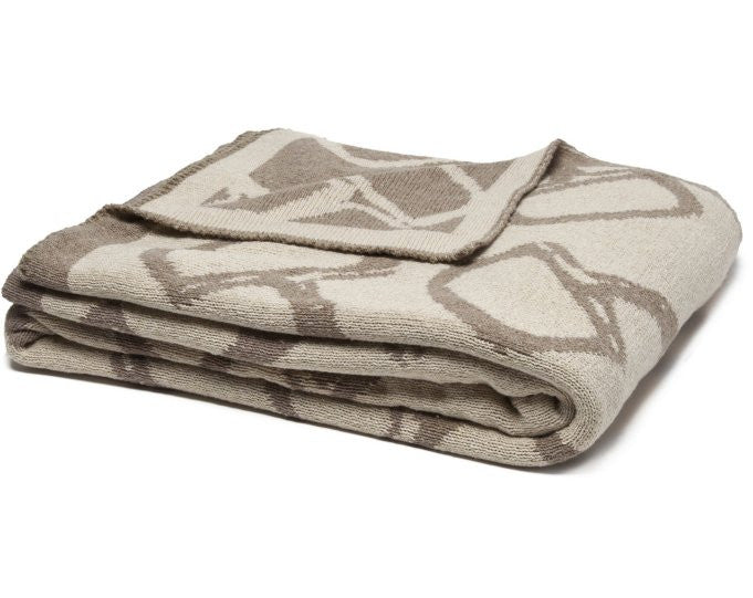 Eco Conscious Horse Bits Reversible Throw