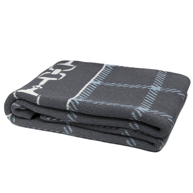 Eco Conscious Horse Bit Plaid Throw