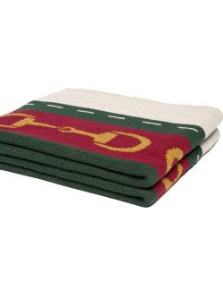 Eco Conscious Horse Bits Striped Throw