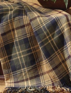 Gentleman's Plaid Throw