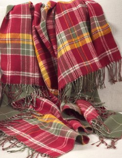 Washables Autumn Plaid Throw