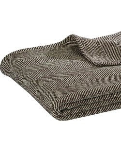 Manor House Herringbone Cotton Blend Throw