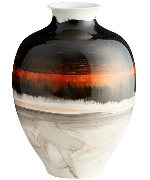 Amber Sunset Ceramic Vase