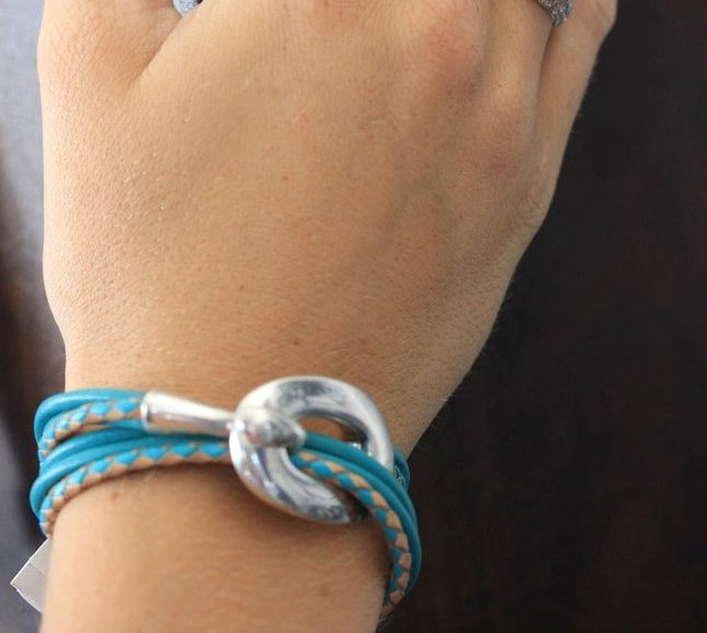 Leather Strands Hypoallergenic Wrap Bracelet