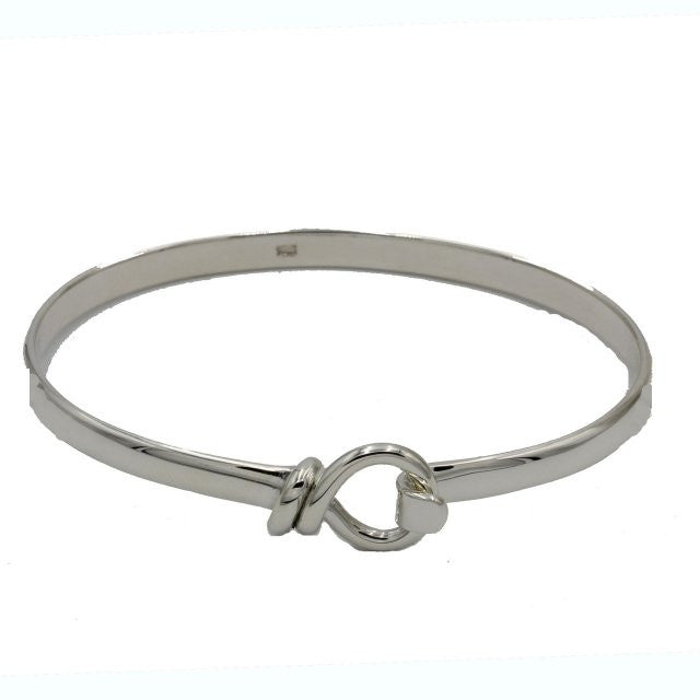 Petite Twisted Wire Loop Bangle Bracelet