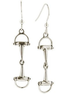 Sterling Silver Dee Bit Dangle Earrings
