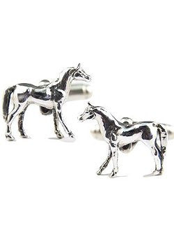 Sterling Silver Thoroughbreds Cufflinks