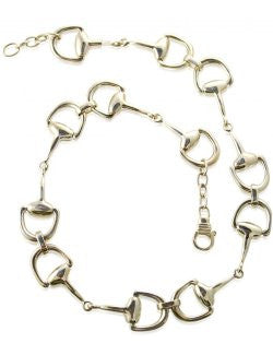 Sterling Silver Snaffle Bits Choker Necklace