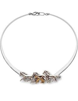 Foal's Run Sterling Silver Slim Collar Necklace