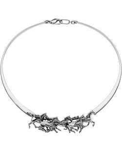 Thundering Thoroughbreds Slim Collar Necklace