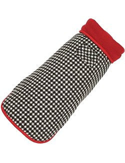 Haute Houndstooth Fleece-Lined Dog Coat