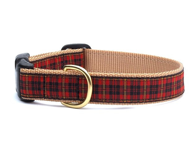Winter Plaid Pet Collars & Leads