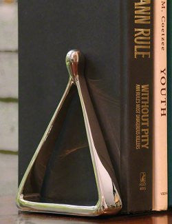 Nickel Stirrup Bookend Set