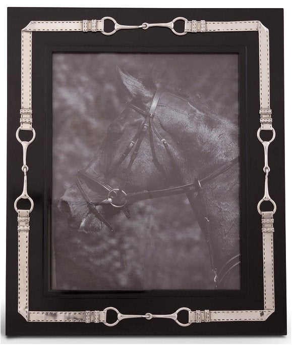 Pewter Bridle Trim Photo Frames