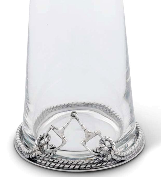 Pewter Base Roped Horse Bit Carafe