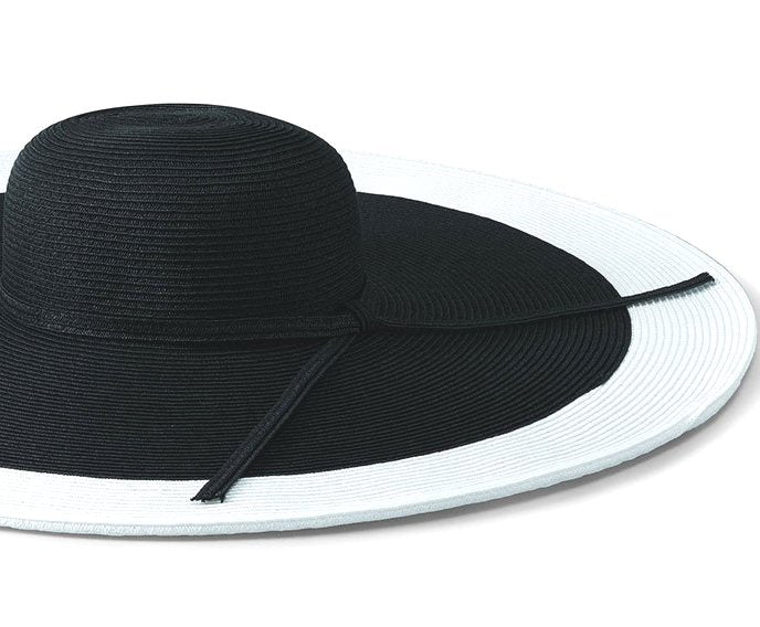 Black & White Spectator Derby Hat