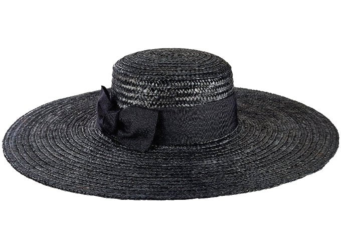 9a35d15f88d3 Wide Brim Straw Boater Derby Hat - Equine Luxuries