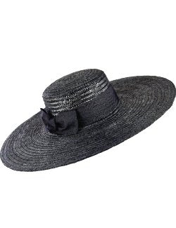 Wide Brim Straw Boater Derby Hat