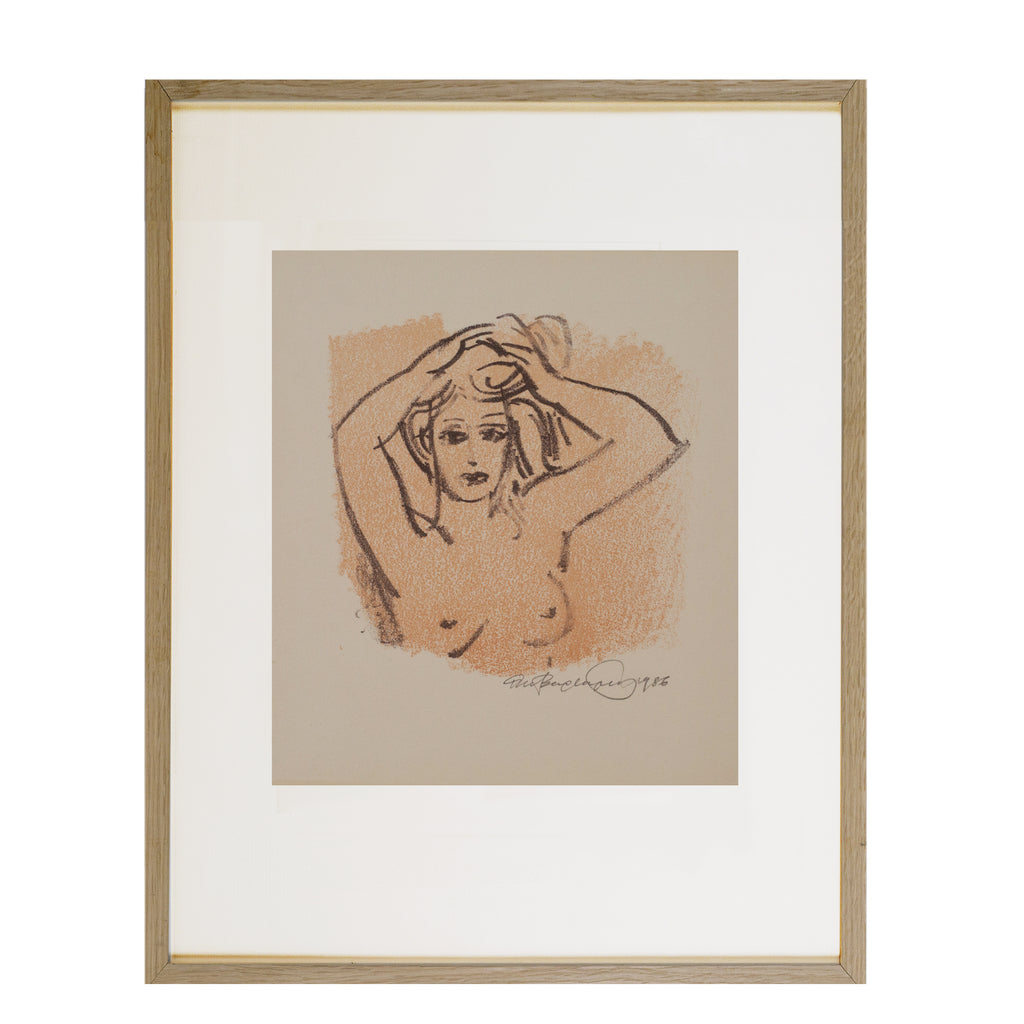 Pastel and Drypoint on Paper by Alexander Bergauer, 1986