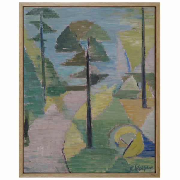 Oil on WoodPanel by ALF OSSIAN WAHLGREN, 1956