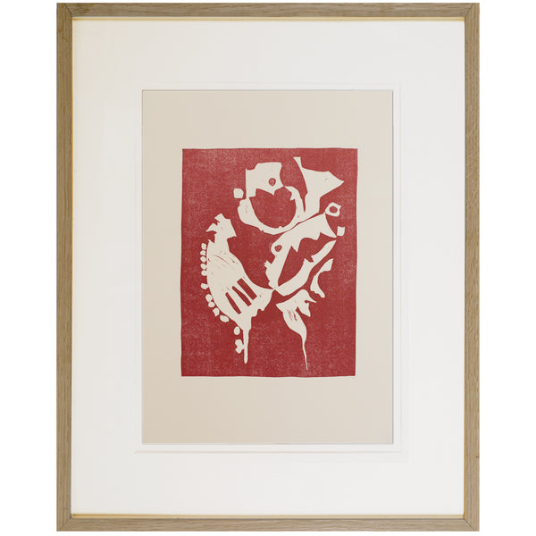 Small Lithograph on Paper by CHRISTA DÜLL, 1980