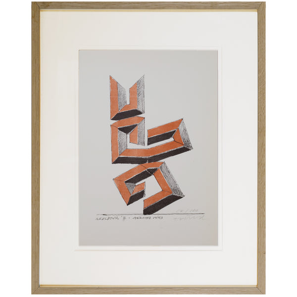Lithograph on Paper by GERHARD WIND, 1977