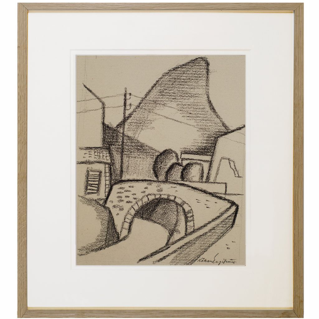 Modernist Drawing by KARL HAKAN ENGSTRÖM, 1950