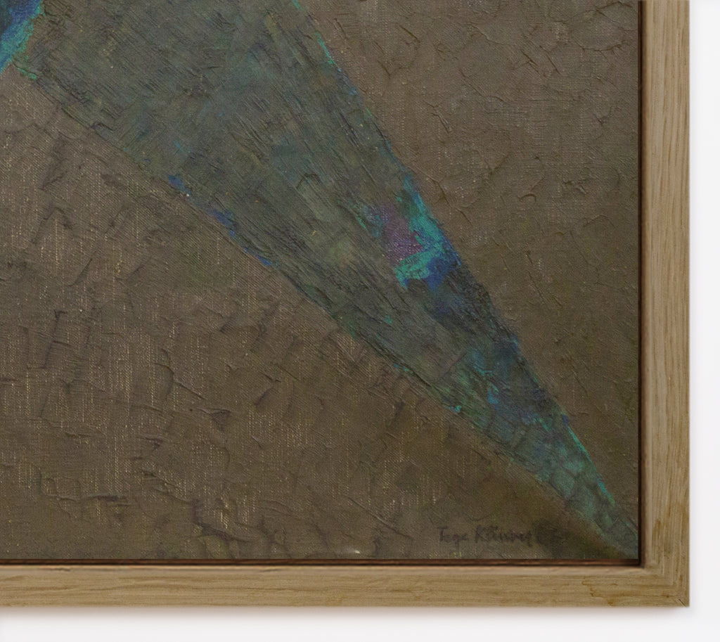 Large Oil on Canvas by TAGE KLÜWER, 1961