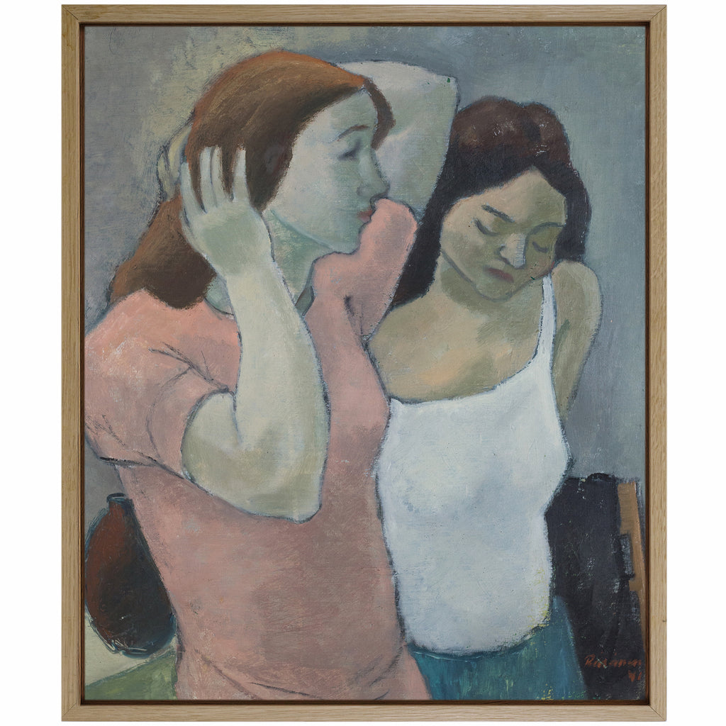 Oil on Canvas, Two Women by J. RÄSÄNEN, 1941