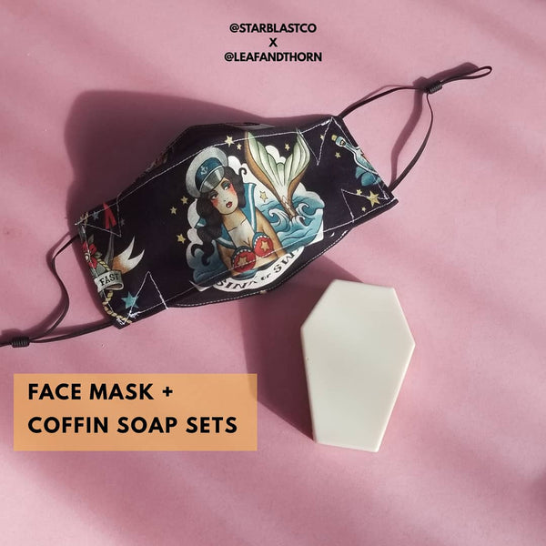 Face Mask + Coffin Soap Set