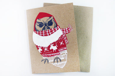 Winter Owl Card