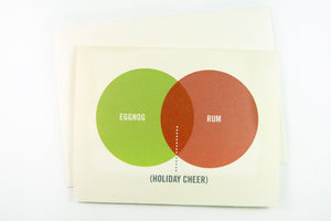 Venn Diagram - Rum And Eggnog Card