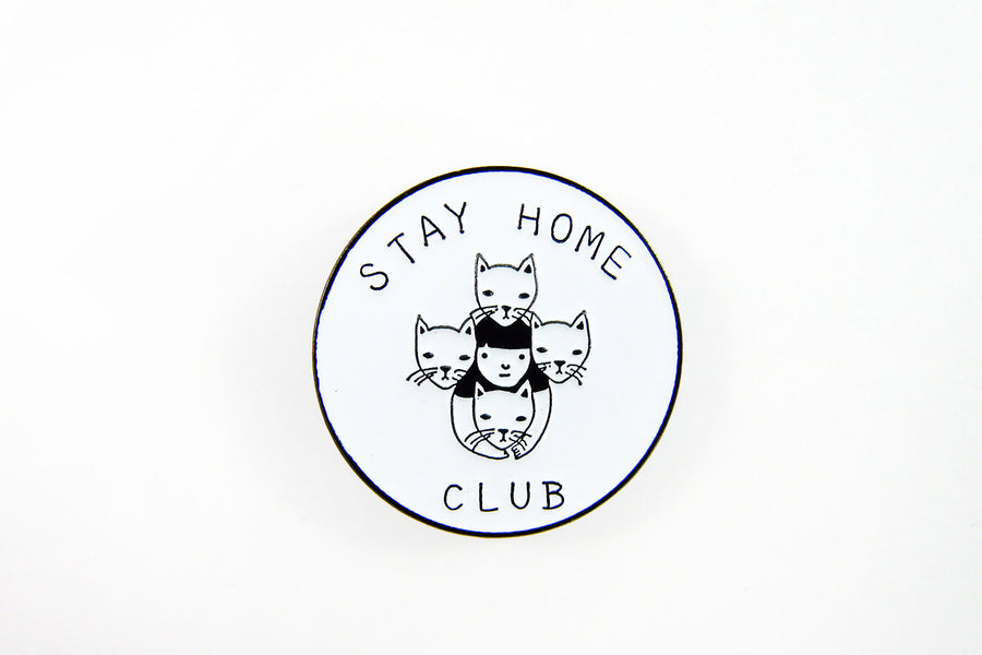 Stay Home Club Logo Pin