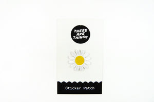White Daisy Sticker Patch