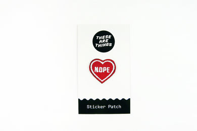 Nope Heart Sticker Patch