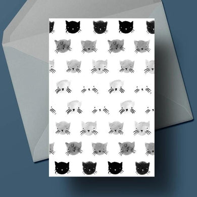 Greyscale Kitties Card