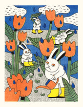 Load image into Gallery viewer, Garden Pals Risograph Print