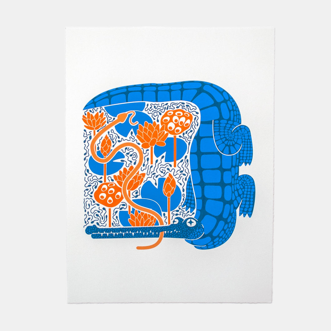 Gharial Screen Print