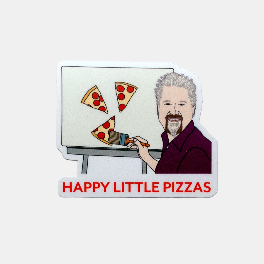 Happy Little Pizzas Sticker