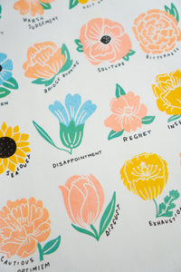Language Of Flowers Risograph Print