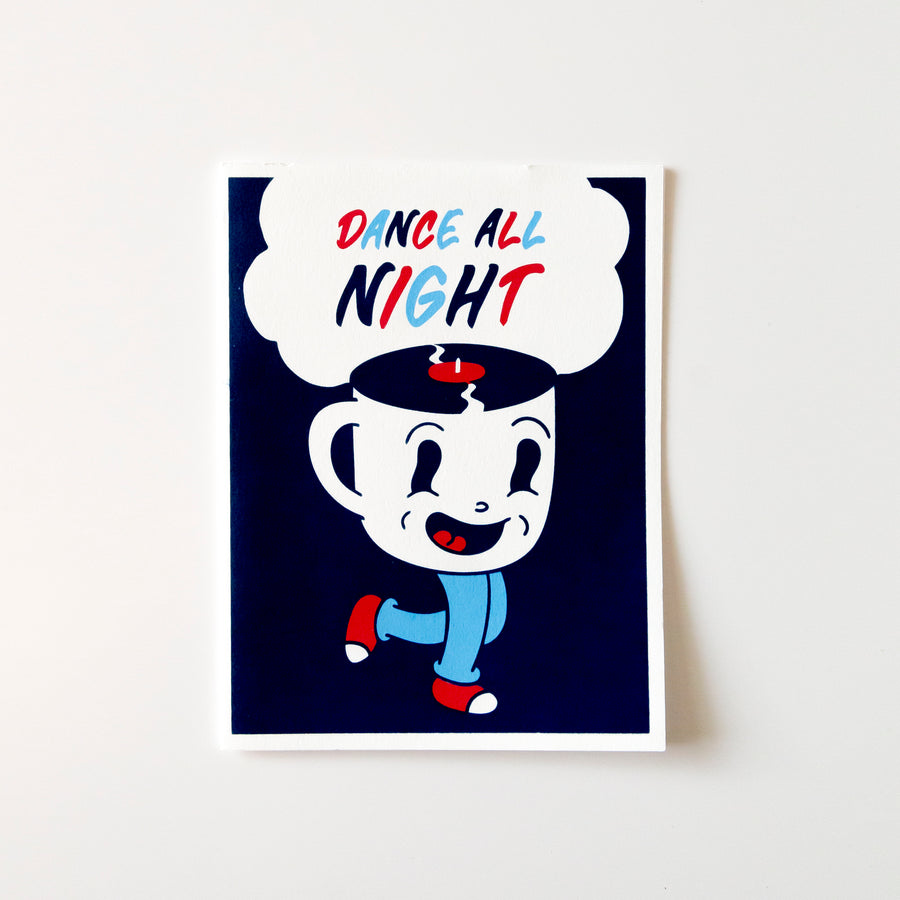 Dance All Night Card