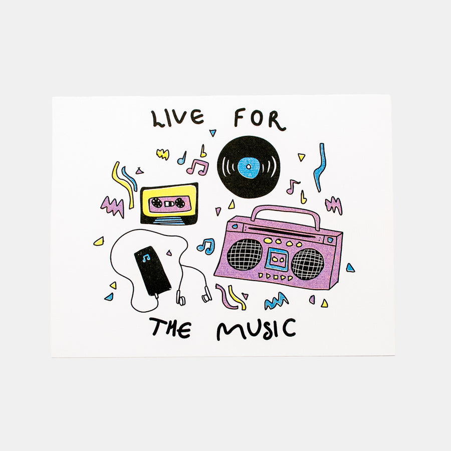Live for the Music Risograph Print