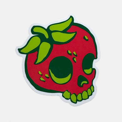 Strawberry Skull Sticker