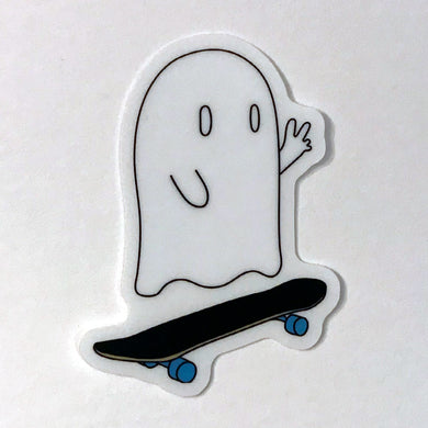 Skateboard Ghost Sticker
